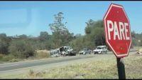 |VIDEO| Viernes de terror: impresionante choque entre un auto, una camioneta y una combi que transportaba niños