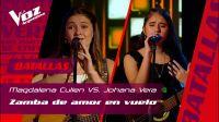 La Voz: Johana Vera, la joven salteña participante del show se enfrentó a una compañera en un reñido duelo musical