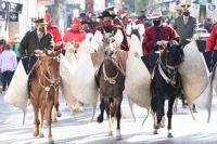 Gustavo Sáenz encabezó la marcha patriótica en honor a Güemes