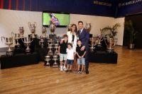 Se sacó Thiago, el hijo mayor de Lionel Messi y les respondió duramente a un grupo de hinchas