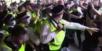 Protestas: anti vacunas intentaron tomar el edificio de la BBC en Londres
