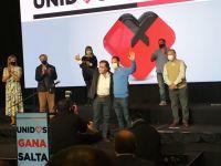 En el búnker de Unidos por Salta, los candidatos celebraron su triunfo