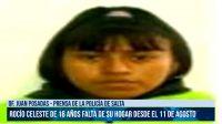 ¿Dónde está Rocío Celeste? La adolescente salteña falta de su hogar desde hace 40 días