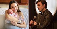 Mucha ternura: la foto de Moritán dedicada al mes de nacimiento de Ana, su hija con Pampita