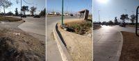  FOTOS  Vecinos de un barrio explotan de ira: demandan sendas peatonales y rampas en las veredas