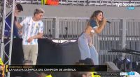 Los detalles del show de Jimena Barón en la previa del Argentina - BoliviaLos detalles del show de Jimena Barón en la previa del Argentina - Bolivia