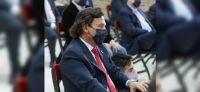 Gustavo Sáenz estuvo presente en el acto de jura de los nuevos ministros