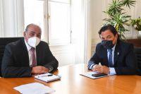Gustavo Sáenz fue recibido por el nuevo jefe de Gabinete de Nación, Juan Manzur