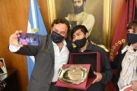 Gustavo Saénz se reunió con un joven Wichi nominado a un importantísimo premio