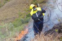 Incendio en un cerro de La Caldera: hay más de 120 hectáreas afectadas