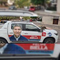 |VIDEO| ¿Campaña sucia? El mensaje intimidatorio que recibió Felipe Biella en la puerta de su casa