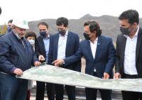 Sáenz, Estrada, Katopodis y De Pedro supervisaron las obras hídricas en el Parque Industrial de la provincia