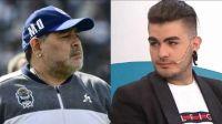 Diego Maradona y Santiago Lara