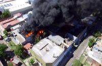 Incendio en Loma Hermosa. Fuente: (Twitter)