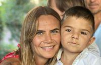 Amalia Granata y su hijo. Fuente (Instagram)