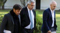 Alberto Fernández, Kicillof y Larreta reunidos por el aumento de contagios en el AMBA