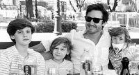 Benjamín Vicuña y sus hijos. Fuente (Instagram)