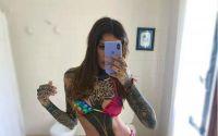 Cande Tinelli con un sensual desnudo y a detalle mostró los tatuajes de su espalda