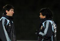El vídeo inédito de Diego Maradona junto a Lionel Messi en Sudáfrica 2010