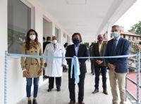 Gustavo Sáenz inauguró un nuevo edificio de servicios generales en el Hospital Oñativia