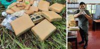 "Orán: descubren 43 kilos de marihuana ""camuflados"" entre la maleza de un campo"