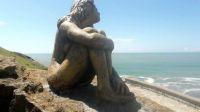 Escultura en Mar del Plata. Fuente: (Twitter)