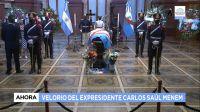 |EN VIVO| Los restos del ex presidente Carlos Menem son velados en el Senado de la Nación