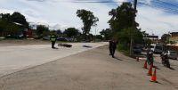 |VIDEO| Terrible accidente: motociclista fue arrollado por un camión y quedó tirado sobre la cinta asfáltica