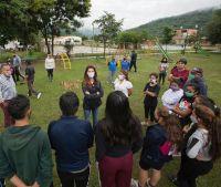 Bettina Romero supervisó las obras que se realizan en Barrio Unión