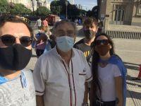 Luis Brandoni se recuperó del COVID-19 y salió a marchar en contra del Vacunatorio VIP