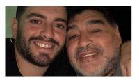 Diego Jr y Diego Maradona. Fuente (Instagram)