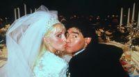 Claudia Villafañe y Diego Maradona. Fuente (Twitter)