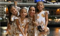 Cinthia Fernández y sus hijas. Fuente (Instagram)