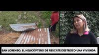 Buscan ayudar a Florentina, la salteña que sufrió el destrozo de su casa por el helicóptero que buscaba a Fabiana Cari