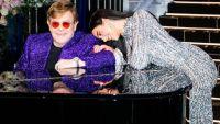 Elton John y Dua Lipa en una presentación