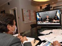 Gustavo Sáenz participó de un encuentro virtual encabezado por el Presidente