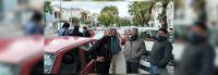 Tensión en el centro salteño: taxistas celebraron su día protestando contra los choferes clandestinos