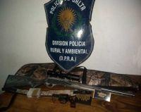 Efectivos de Seguridad secuestraron armas de fuego en un operativo de control