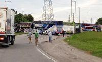 Paro de colectivos: choferes cortan la Ruta 34