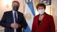 Alberto Fernández y Kristalina Georgieva se reunieron por primera vez cara a cara