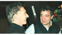 Fabián 'Pepín' Rodríguez Simón y Mauricio Macri. Fuente (Twitter)