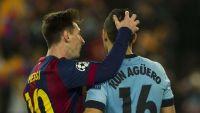 Leo Messi y Kun Agüero. Fuente (Twitter)