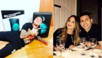El Polaco, Karina y el Kun Agüero. Fuente (Instagram)
