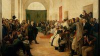 """25 de Mayo. Fuente: """"Cabildo abierto del 22 de mayo de 1810"""" de Pedro Subercaseaux"""