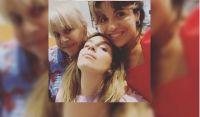 Claudia Villafañe, Dalma y Gianinna Maradona. Fuente (Instagram)
