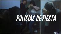 """""""¡Esta comisaria es un puter...!"""": el video de la fiesta de policías que se la pasan entre besos, risas y alcohol"""