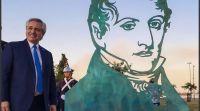 Alberto Fernández encabezó el acto por el Día de la Bandera