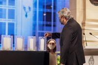 Alberto Fernández encabezó un homenaje a los más de 92 mil muertos por COVID-19