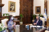 Bettina Romero se reunió con Alberto Fernández y esto fue lo que acordaron