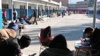 Insólita postal: a falta de calefacción, así dictan las clases en un conocido Colegio salteño